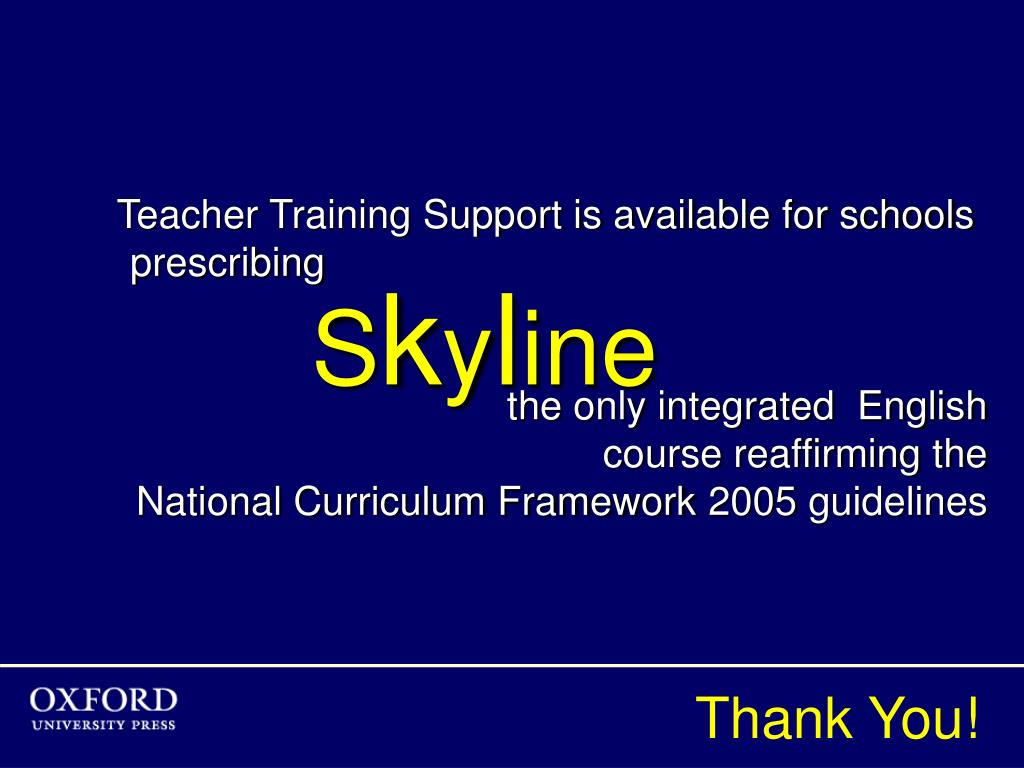 Teacher Training Support is available for schools