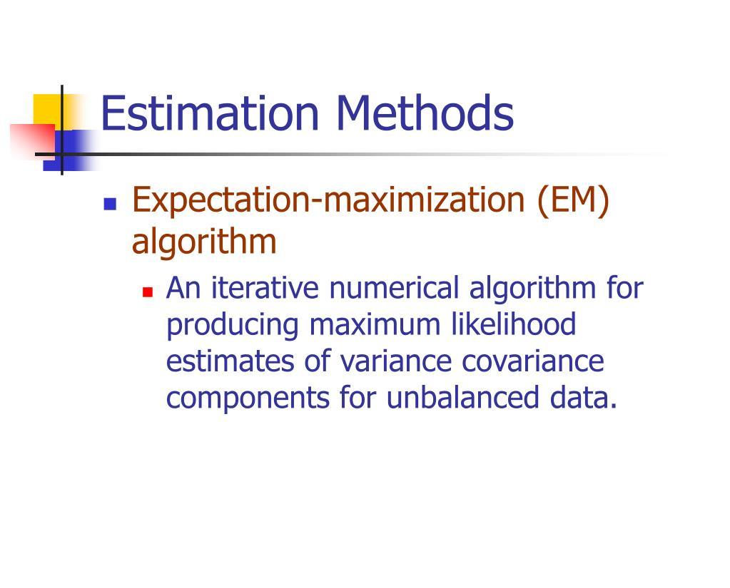 Estimation Methods