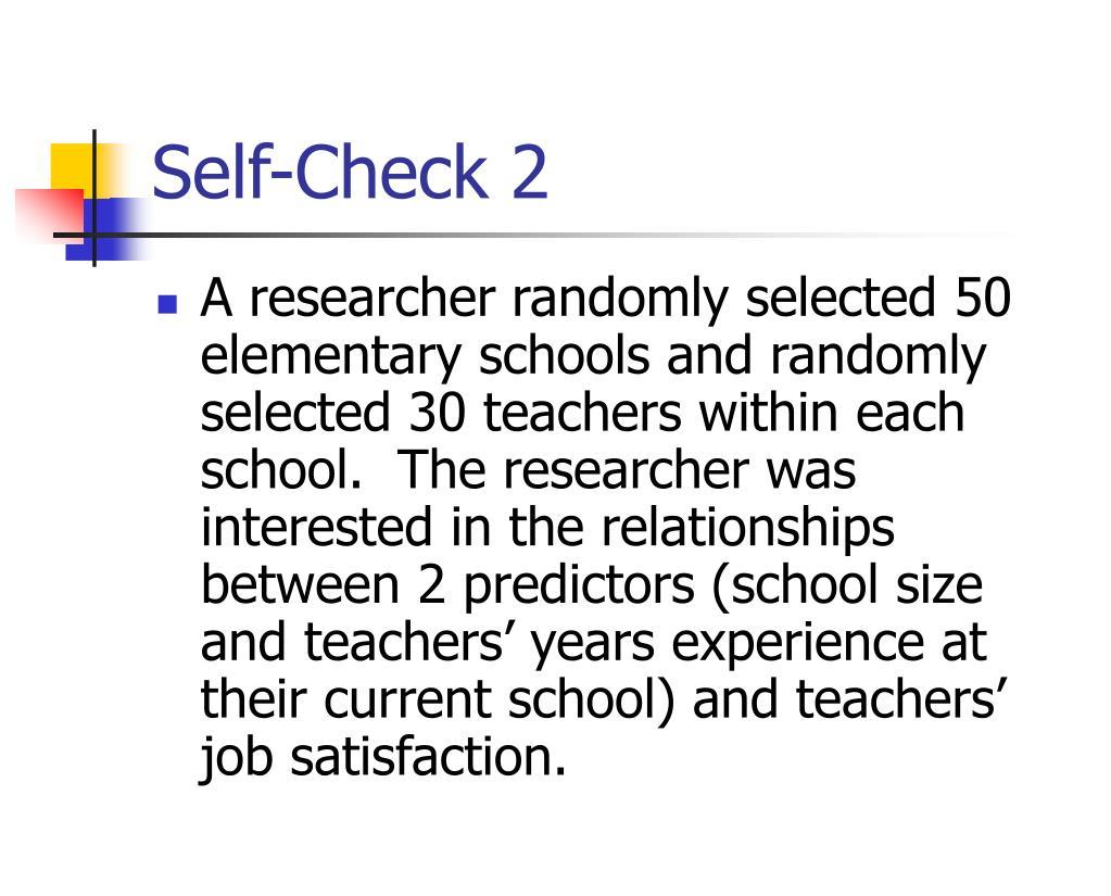 Self-Check 2
