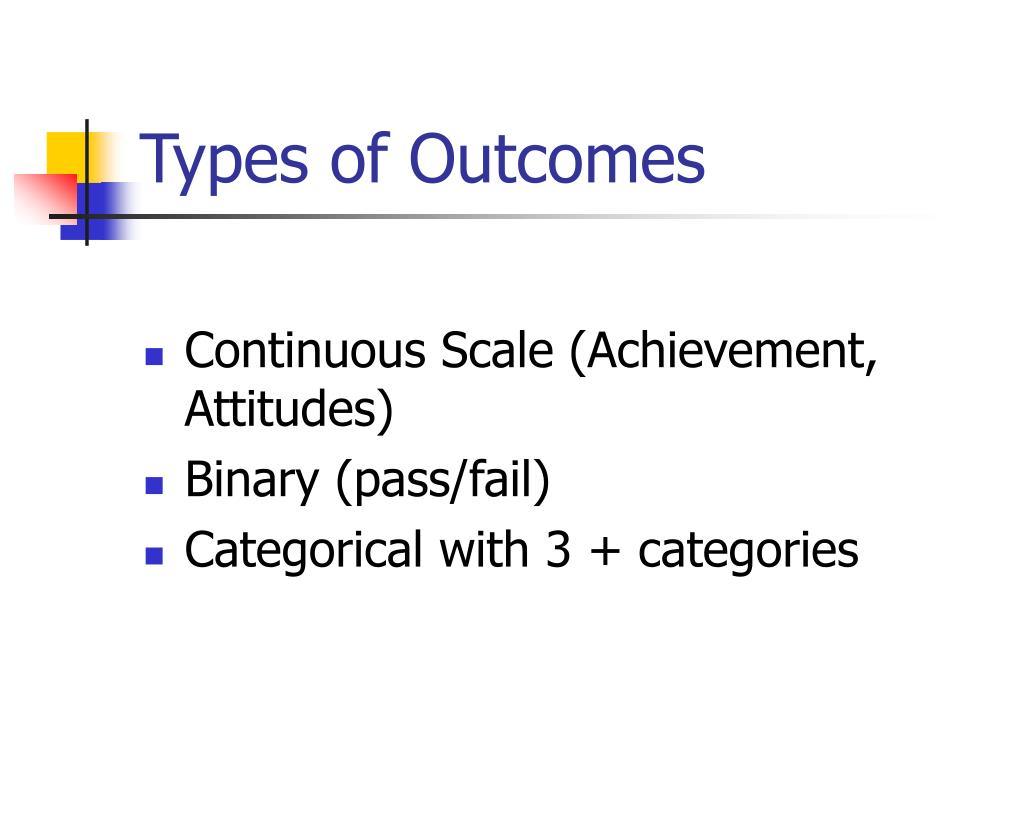 Types of Outcomes