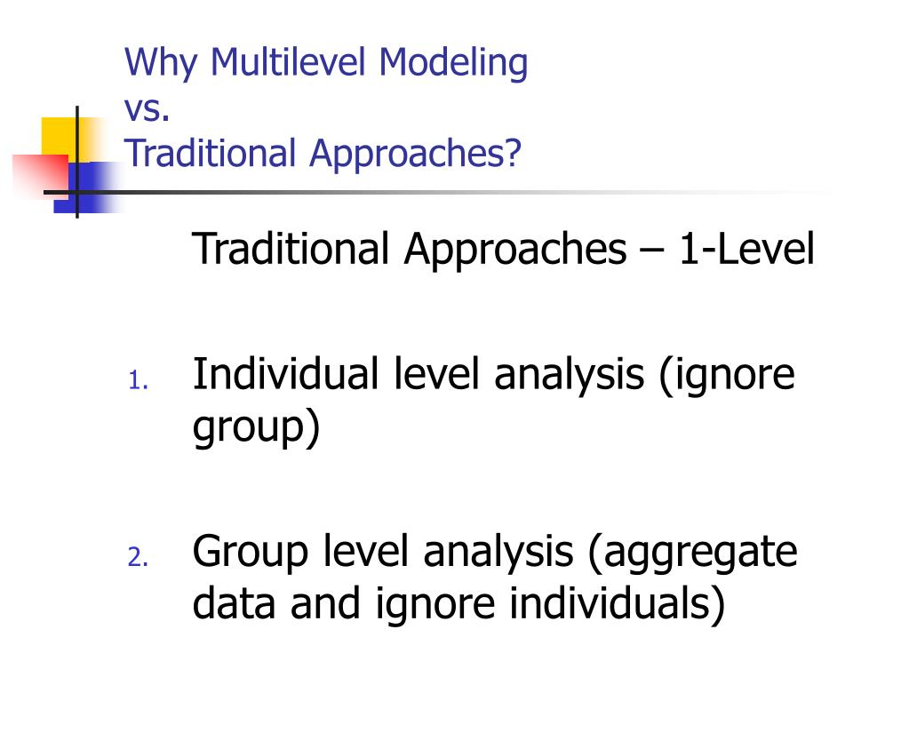 Why Multilevel Modeling
