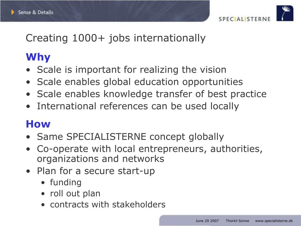 Creating 1000+ jobs internationally