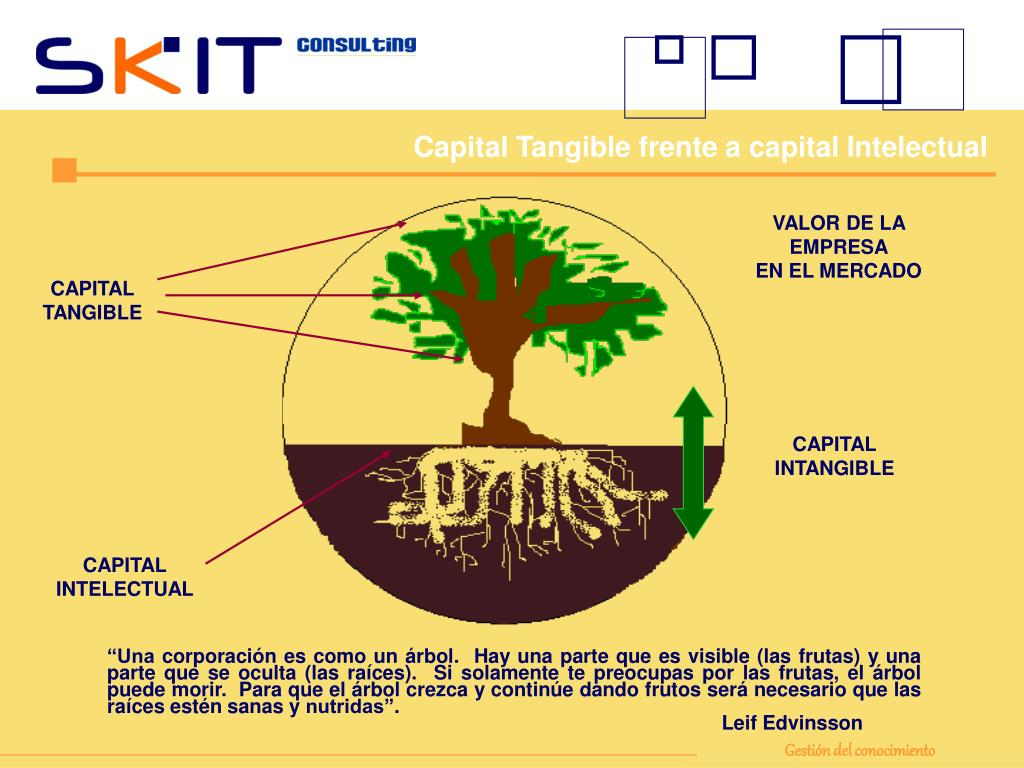 Capital Tangible frente a capital Intelectual
