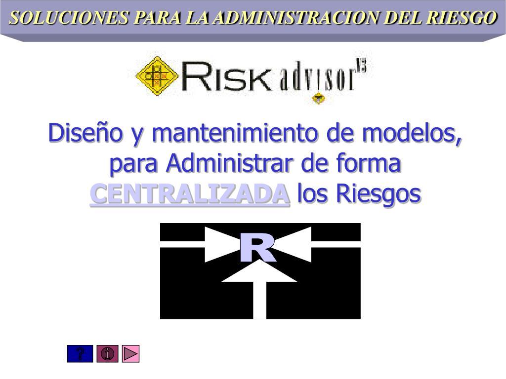 SOLUCIONES PARA LA ADMINISTRACION DEL RIESGO