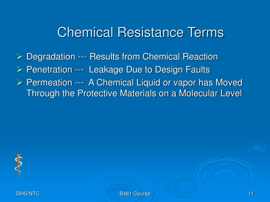 Chemical Resistance Terms