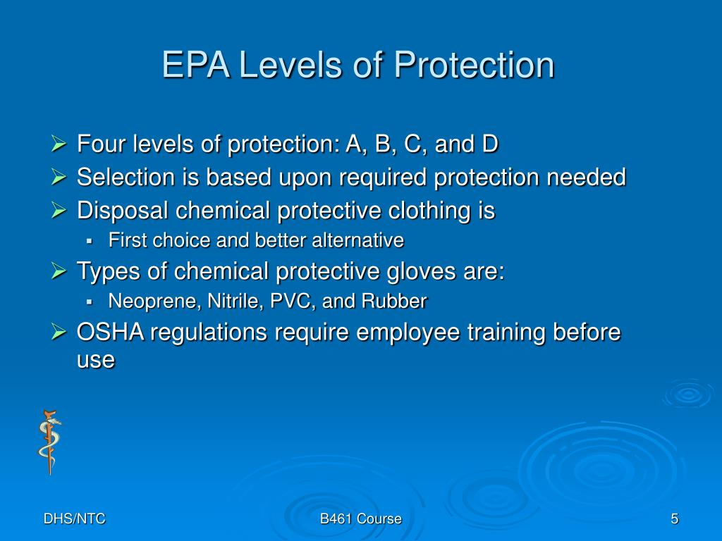 EPA Levels of Protection