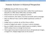 investor activism in historical perspective