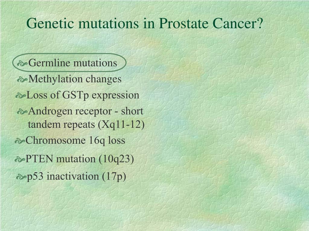 Germline mutations