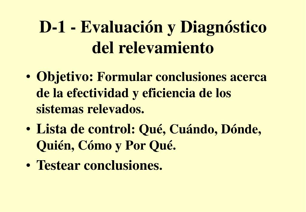 D-1 - Evaluación y Diagnóstico