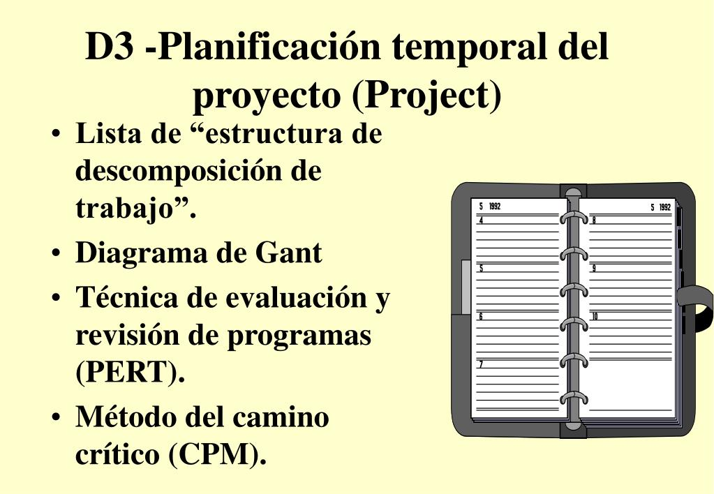 D3 -Planificación temporal del proyecto (Project)