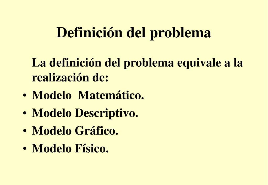 Definición del problema