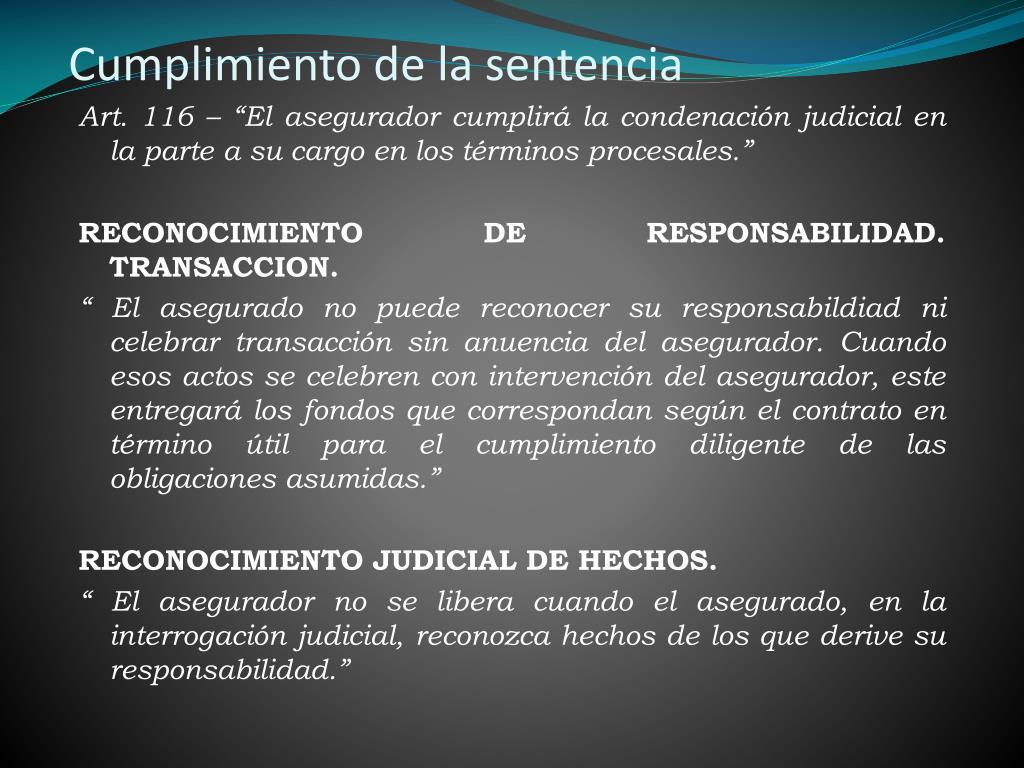 Cumplimiento de la sentencia