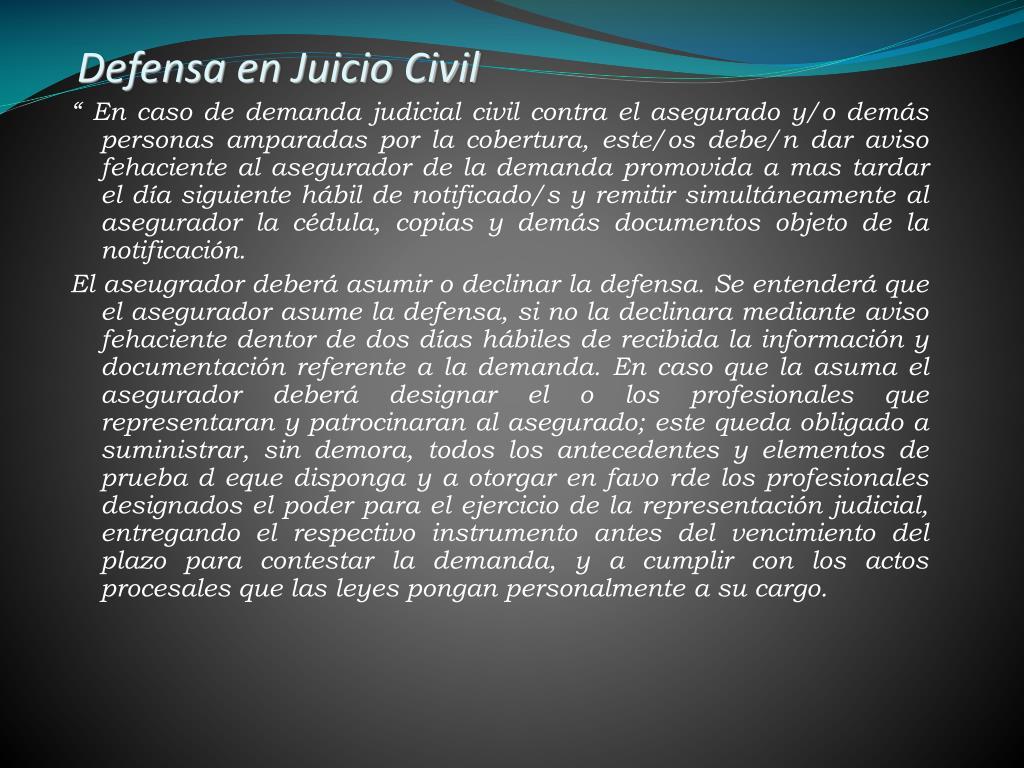 Defensa en Juicio Civil