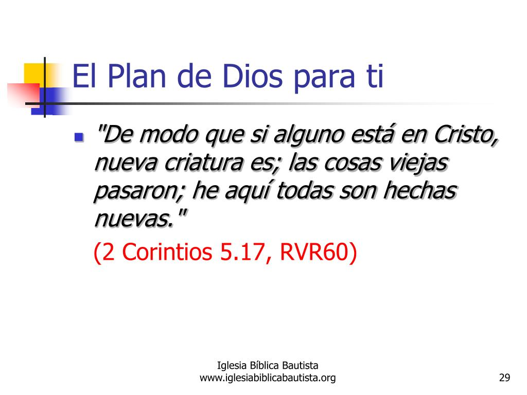 El Plan de Dios para ti