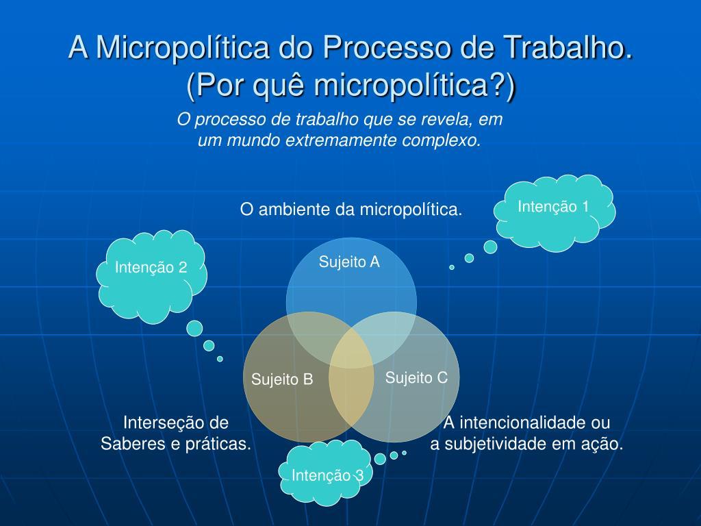 A Micropolítica do Processo de Trabalho.