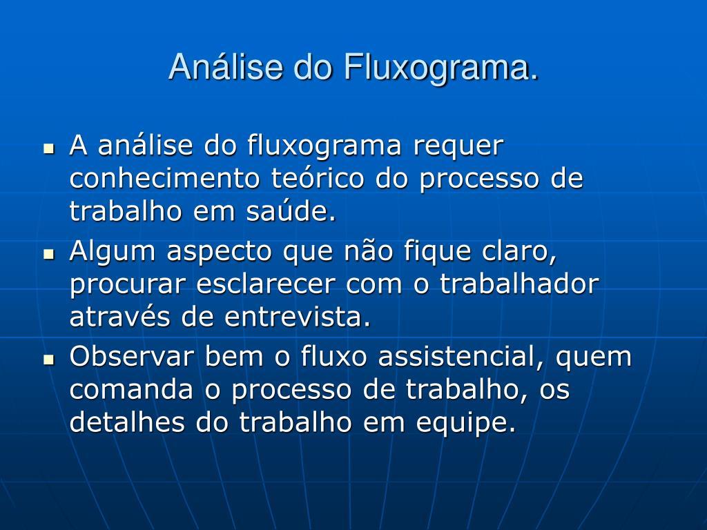 Análise do Fluxograma.