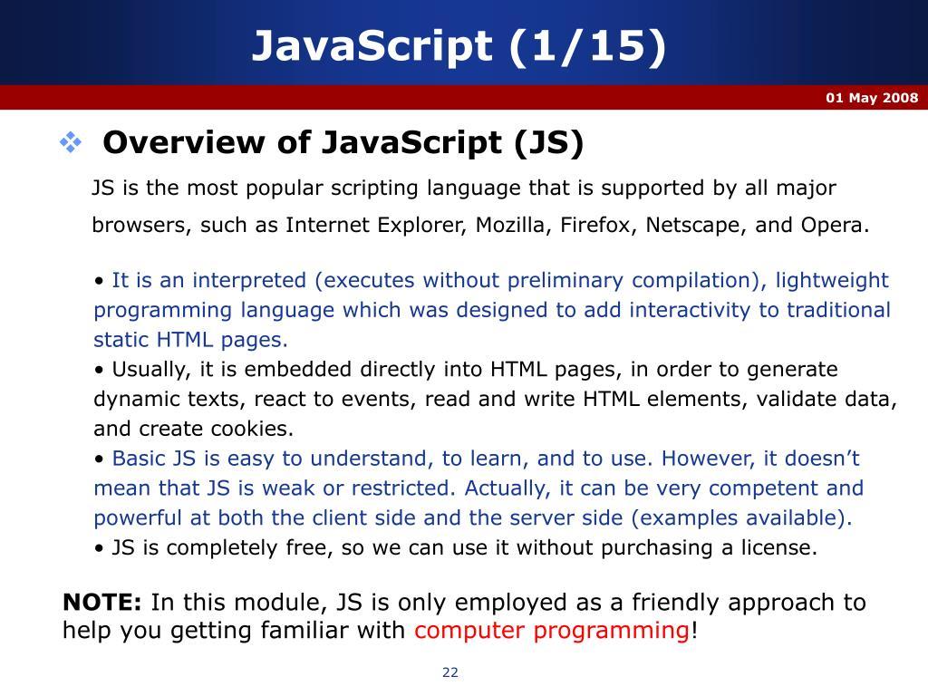 JavaScript (1/15)