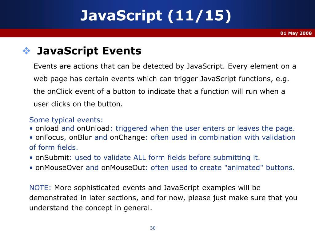 JavaScript (11/15)