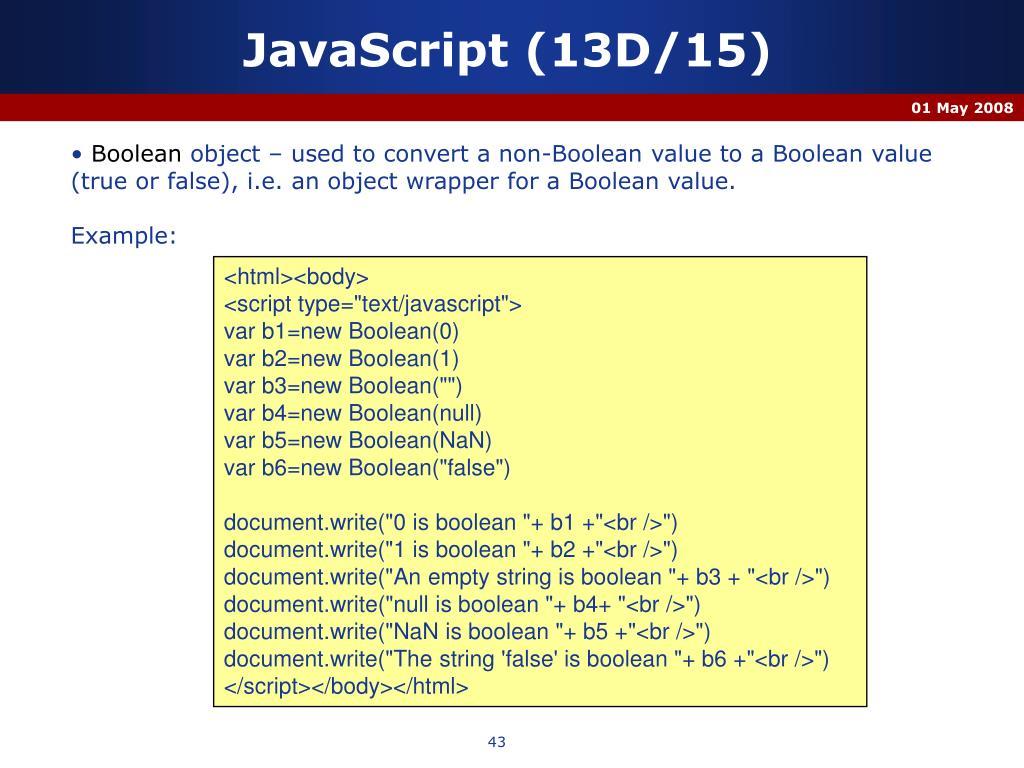 JavaScript (13D/15)