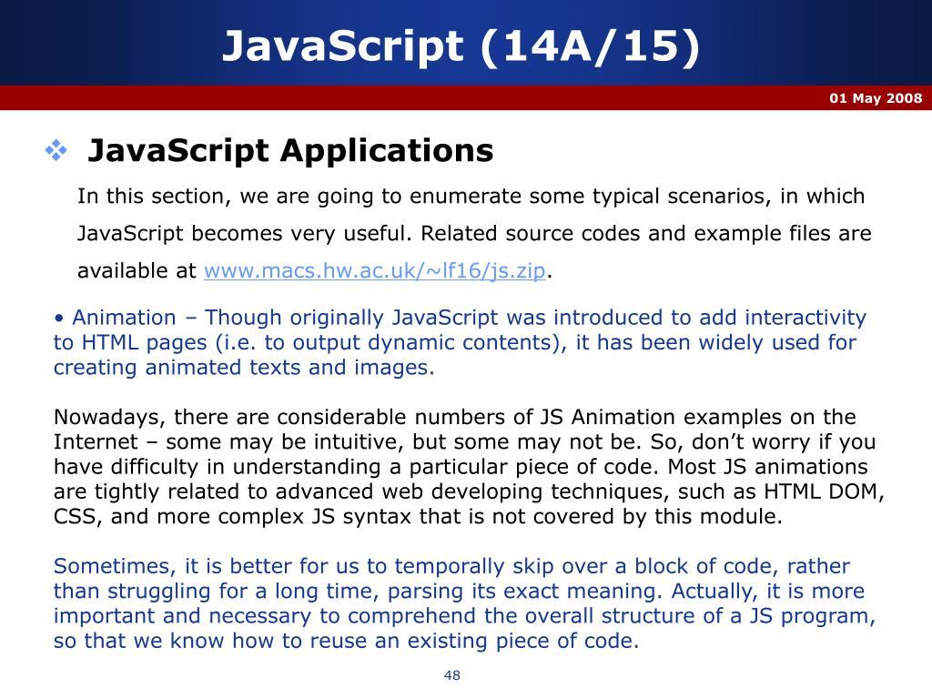 JavaScript (14A/15)