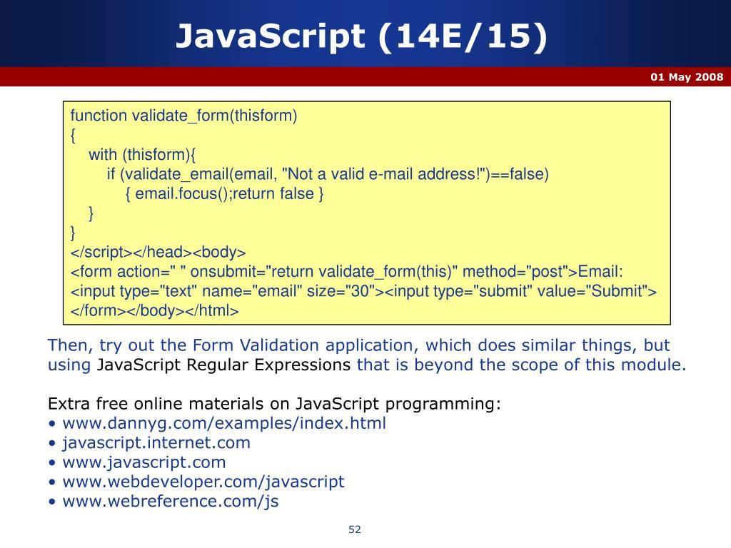 JavaScript (14E/15)