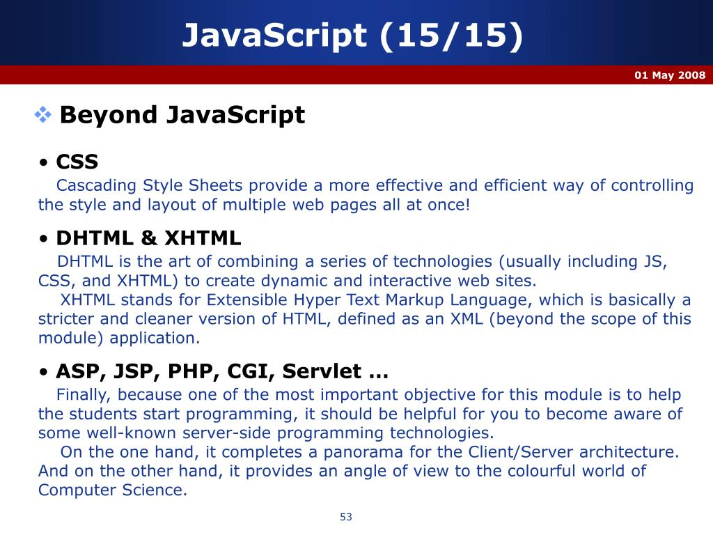 JavaScript (15/15)