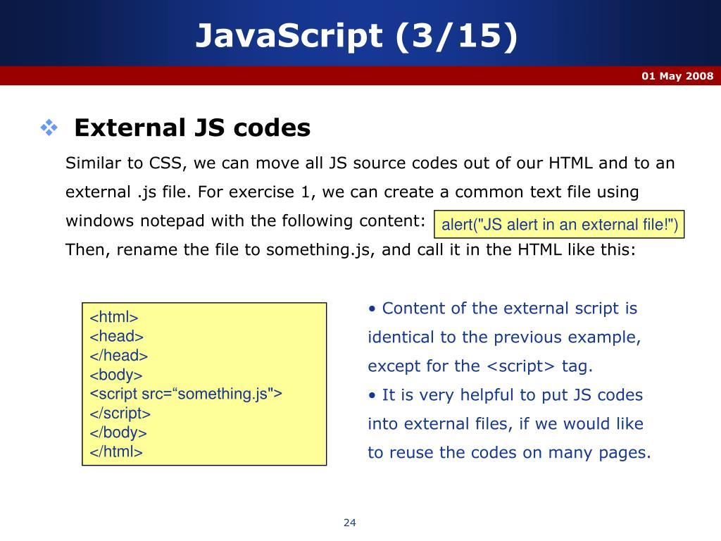 JavaScript (3/15)