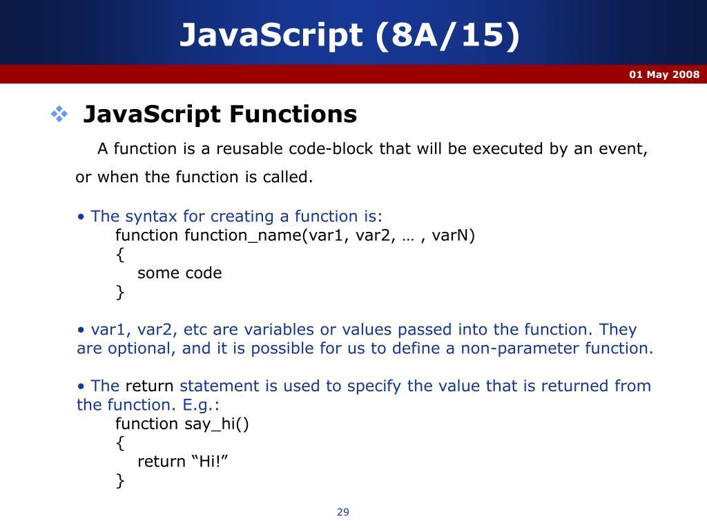 JavaScript (8A/15)