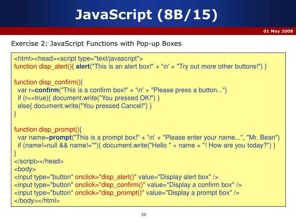 JavaScript (8B/15)