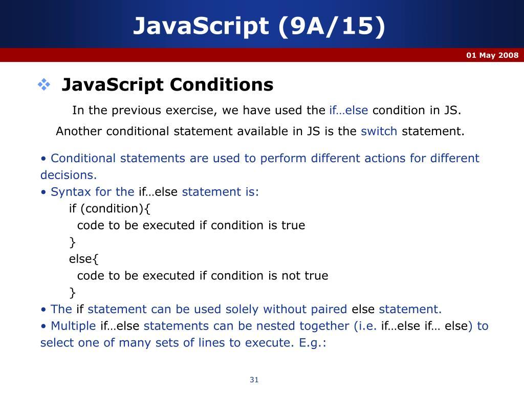 JavaScript (9A/15)