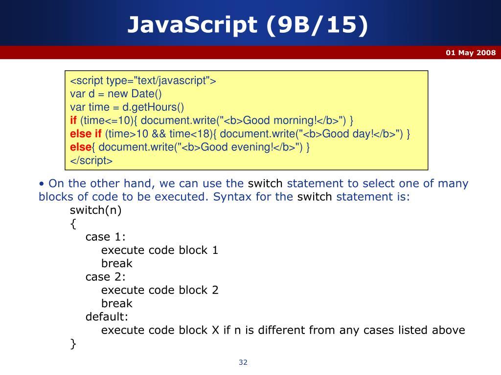 JavaScript (9B/15)