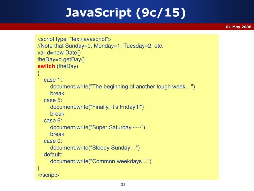 JavaScript (9c/15)