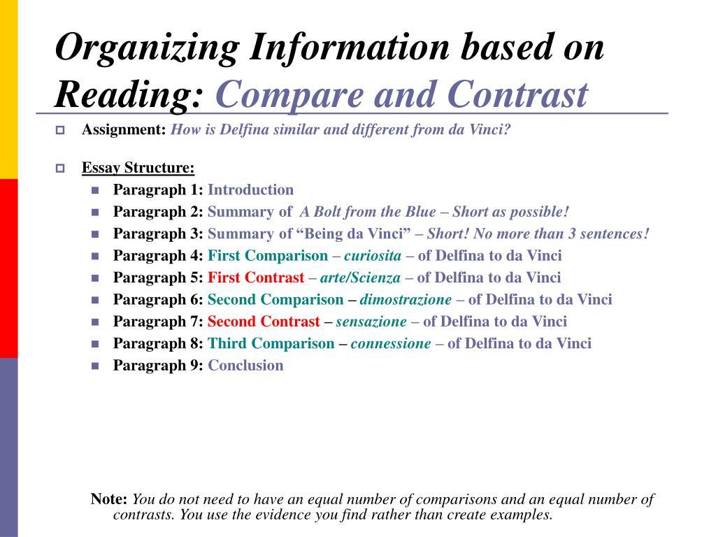 Organizing Information based on Reading: