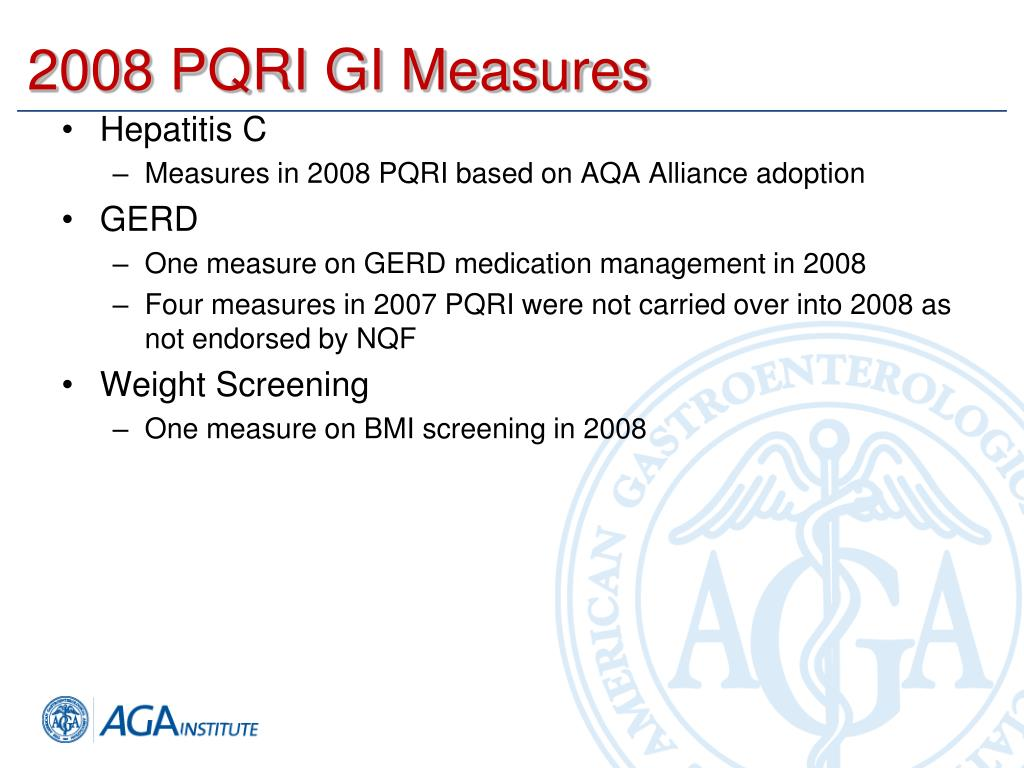 2008 PQRI GI Measures