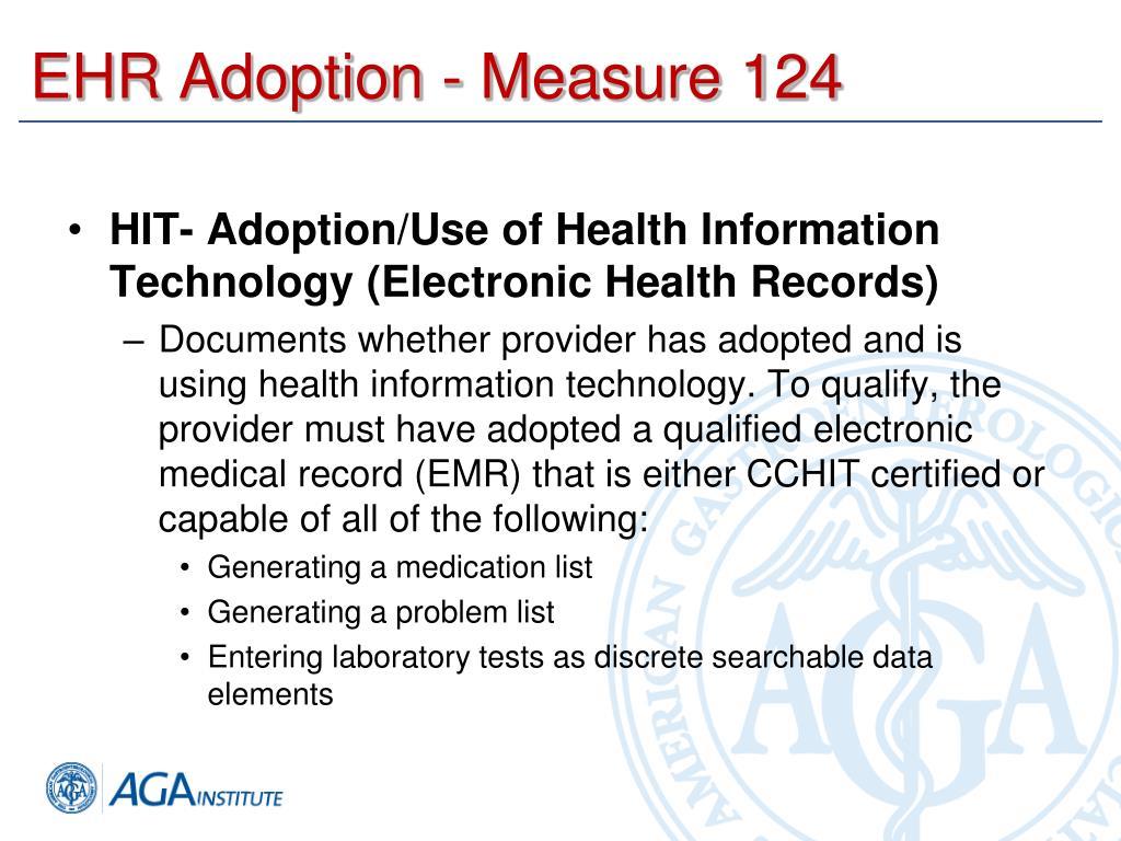 EHR Adoption - Measure 124