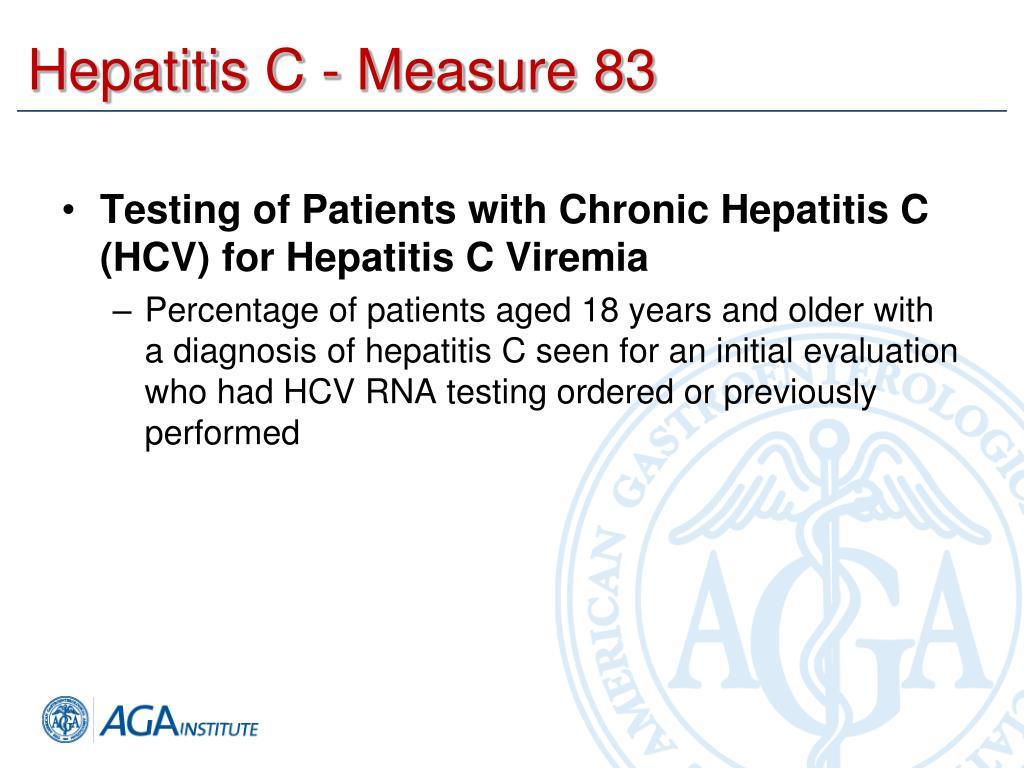 Hepatitis C - Measure 83