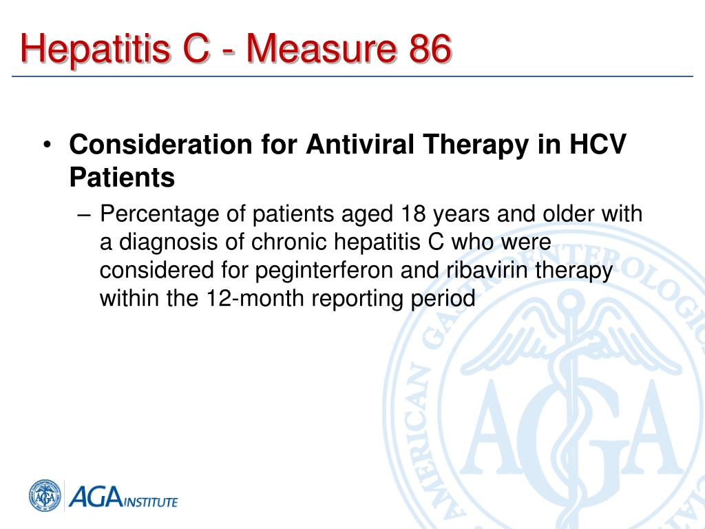 Hepatitis C - Measure 86