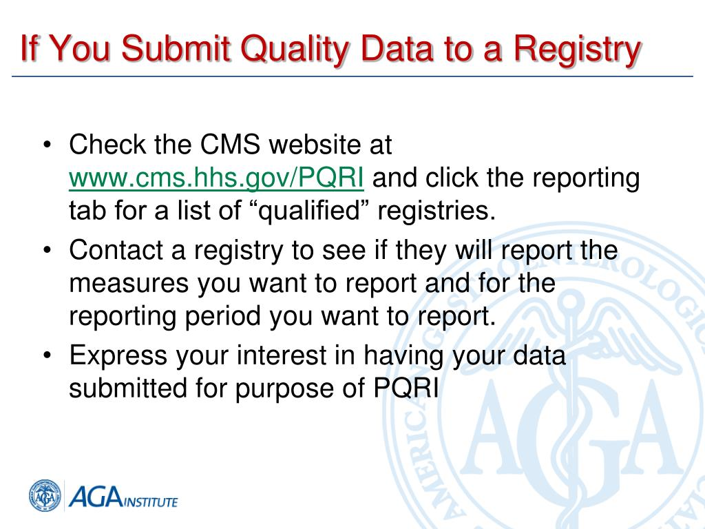 If You Submit Quality Data to a Registry