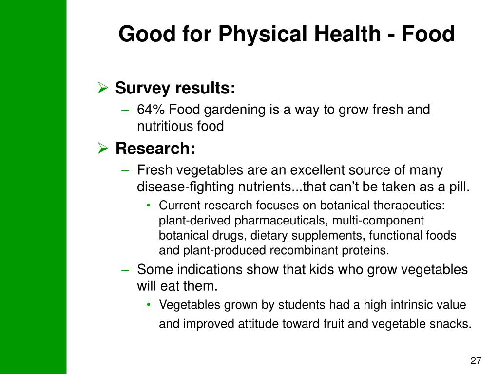Good for Physical Health - Food