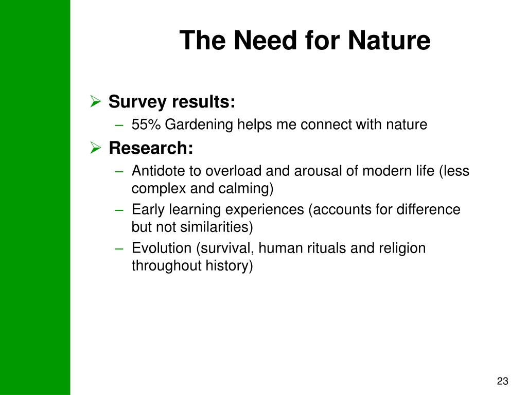 The Need for Nature