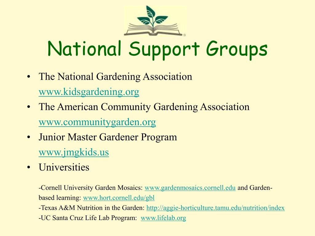 National Support Groups
