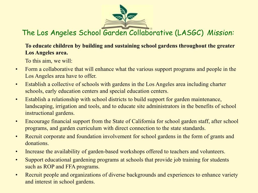 The Los Angeles School Garden Collaborative (LASGC)
