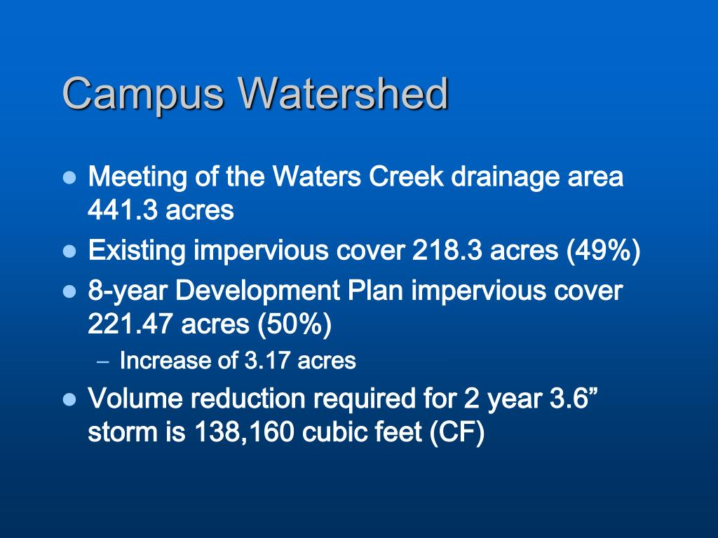 Campus Watershed