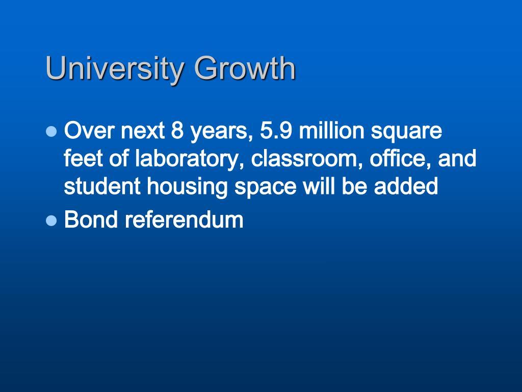 University Growth