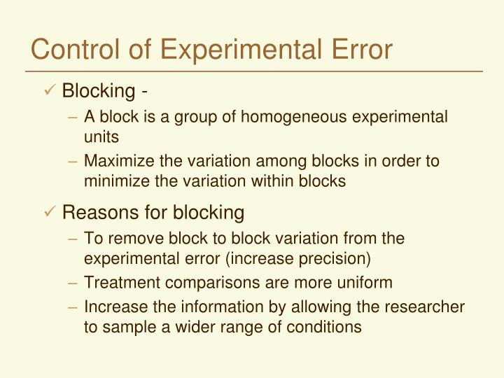 Control of experimental error l.jpg