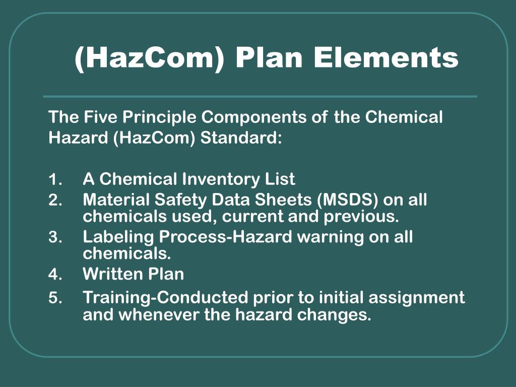 (HazCom) Plan Elements