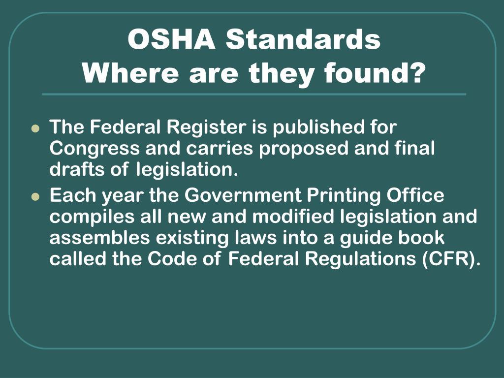 OSHA Standards