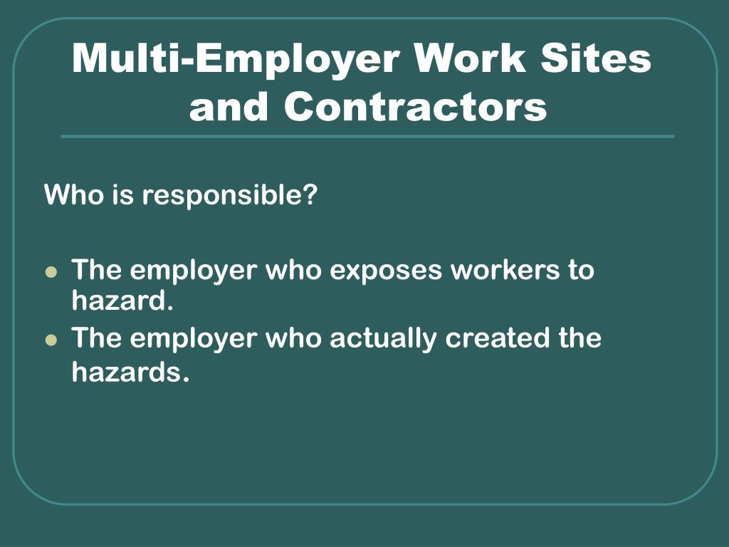 Multi-Employer Work Sites