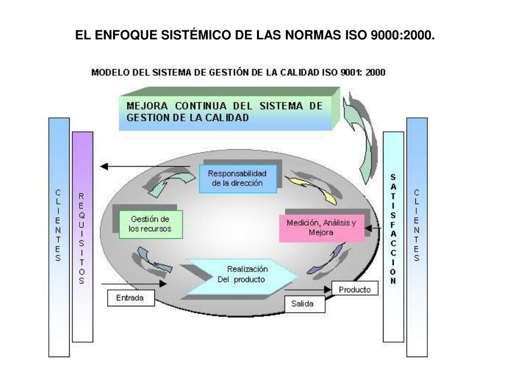 EL ENFOQUE SISTÉMICO DE LAS NORMAS ISO 9000:2000.