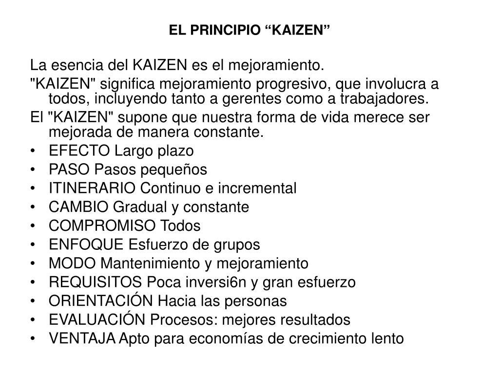 """EL PRINCIPIO """"KAIZEN"""""""
